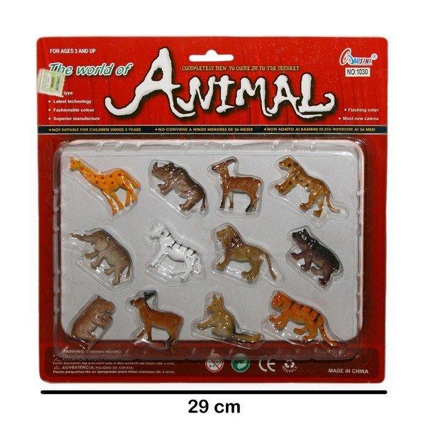 Juguetes Animales de Selva x12, al por mayor